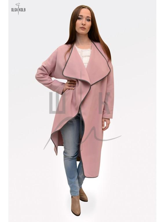 Пальто-халат бренда OLGA KOLB, цвет нежно-розовый