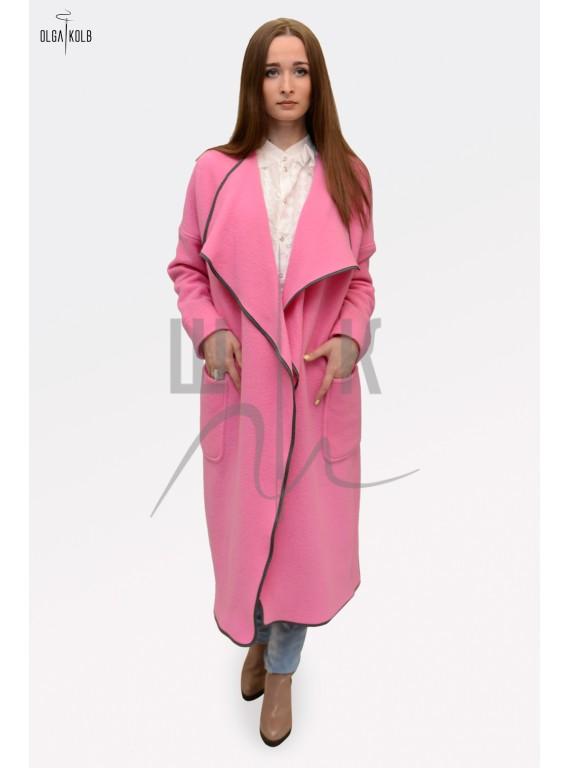 Пальто-халат бренда OLGA KOLB, цвет ярко розовый