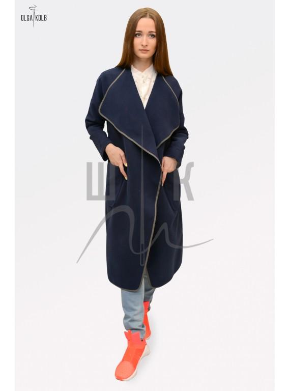 Пальто-халат Olga Kolb, цвет глубокий синий