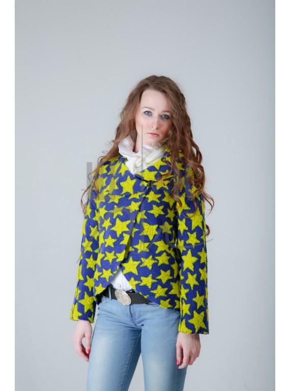Жакет цвет: звезды синие & желтые