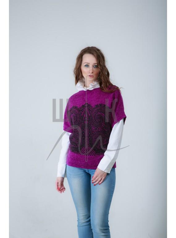 Свитер атикул СКЧ-ч/ф-а80, цвет фиолетовый