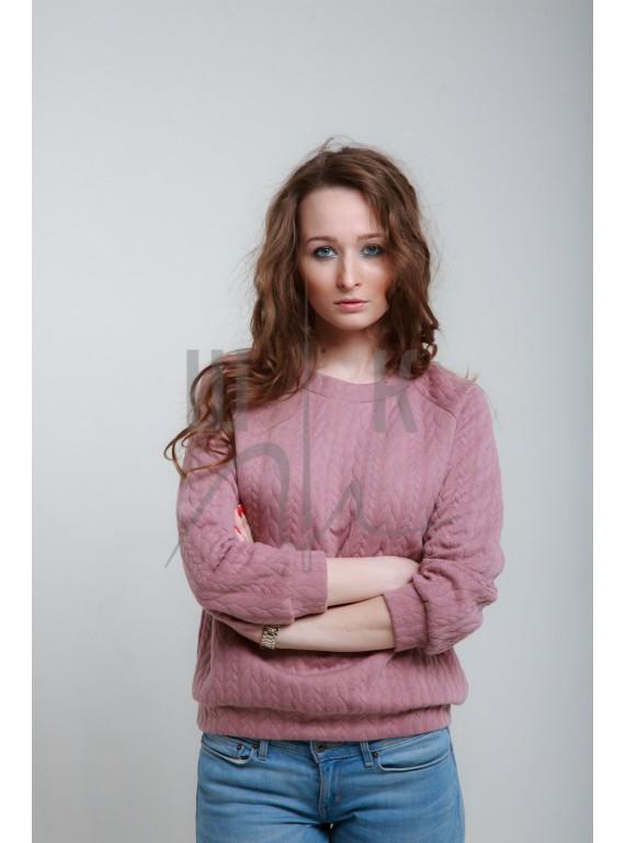Свитшот артикул СК-роз-х80, цвет спокойный розовый