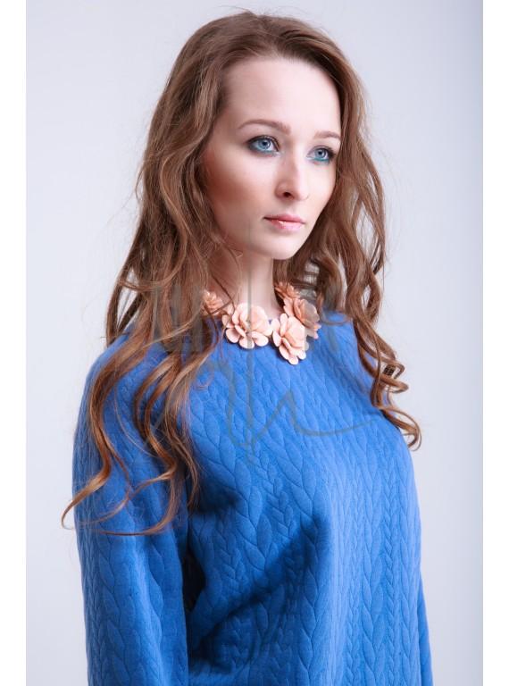 Свитшот OLGA KOLB  артикул СК-м-х80, цвет голубой