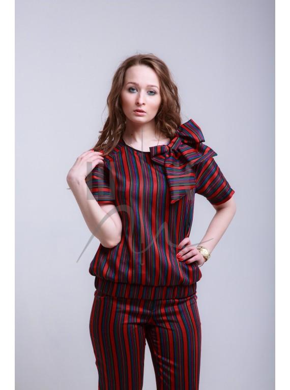 Костюм в полоску бренда OLGA KOLB , КП-Кр-Б-50в50пэ, цвет красный