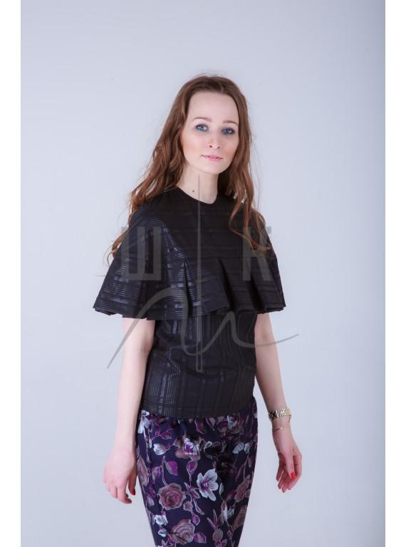 Блузка бренда OLGA KOLB с пелериной, цвет черный