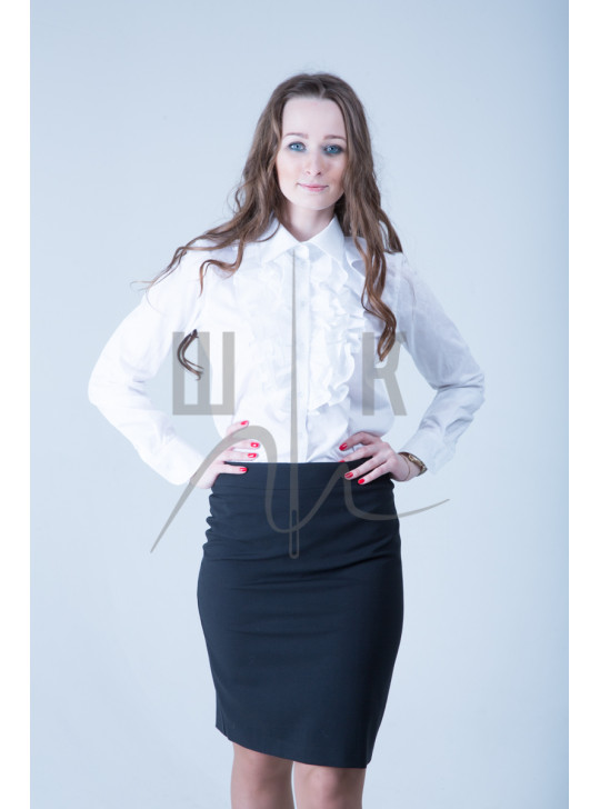 Блузка артикул БЖ-б-х100, цвет белый
