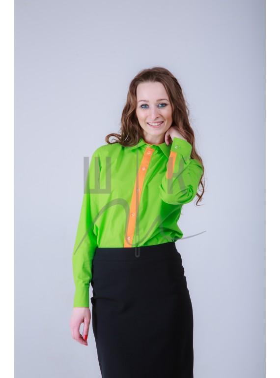 Блузка артикул Б-нз/о-х100, цвет зеленый