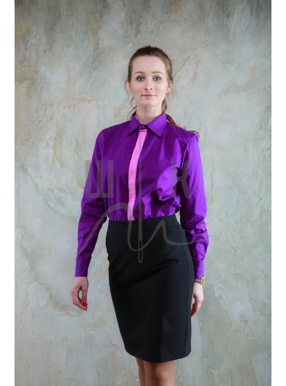 Блузка артикул Б-ф/р-х100, цвет фиолетовый