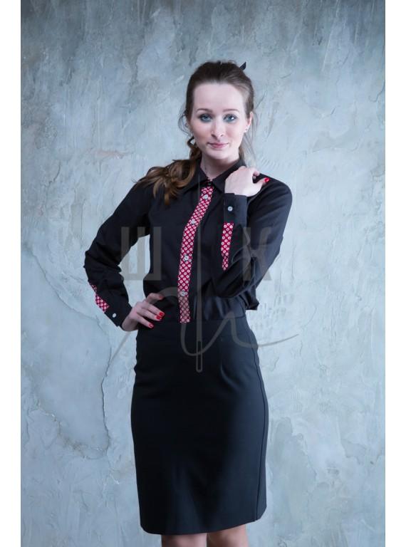 Блузка артикул Б-ч/к-х100, цвет черный
