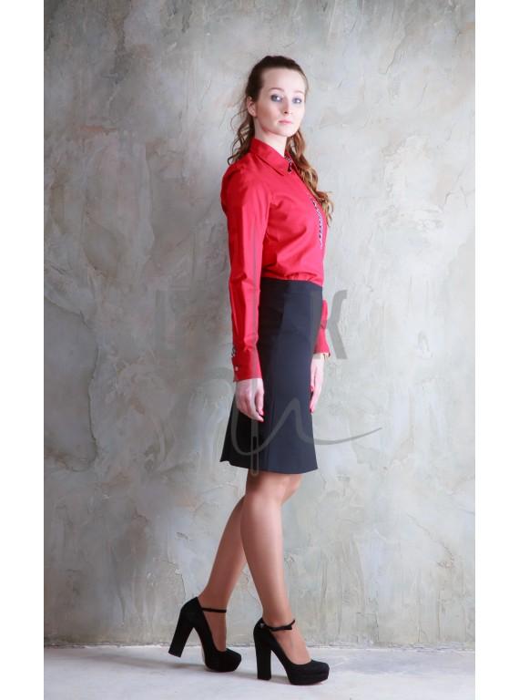 Блузка артикул Б-к/ч-х100, цвет красный