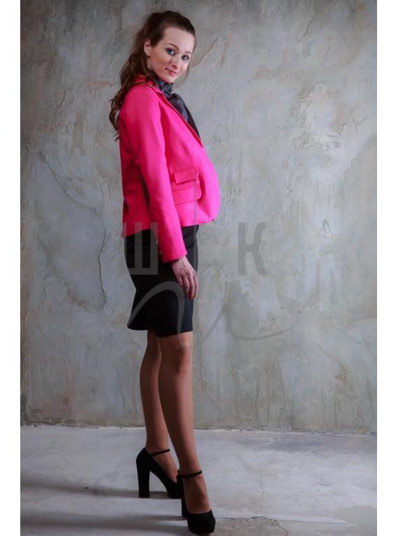 классичекий шерстяной пиджак бренда OLGA KOLB, цвет фуксия