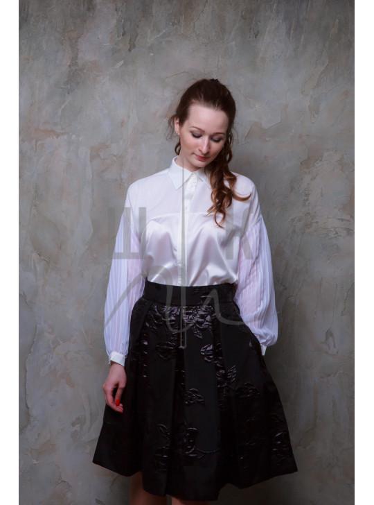 Блузка женская цвет белый, артикул  ББ-1