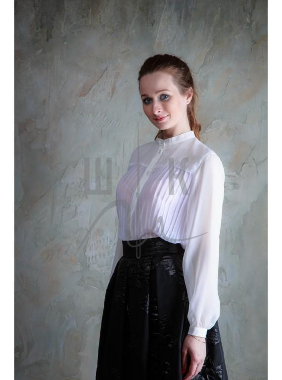 Блузка женская цвет белый ББ-1