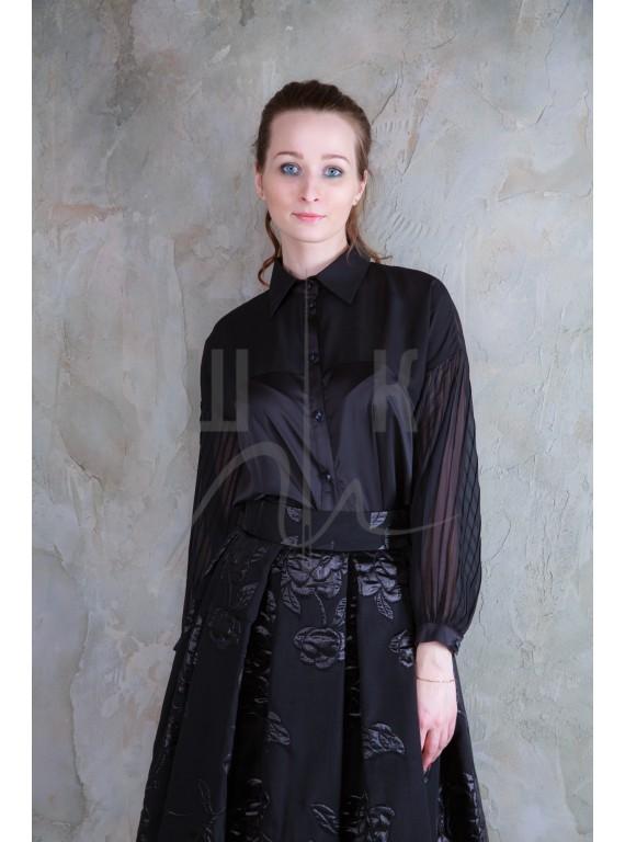 Блузка женская цвет черный БЧ-1