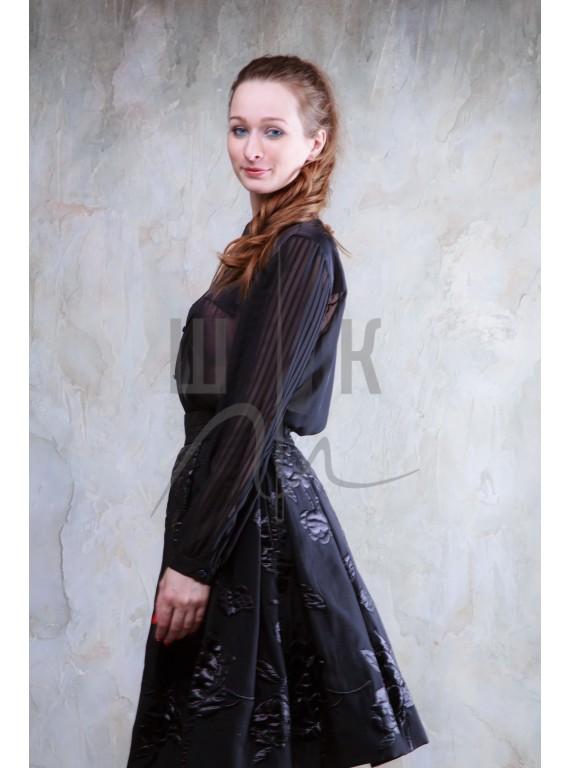 Блузка женская цвет черный БЧ-2