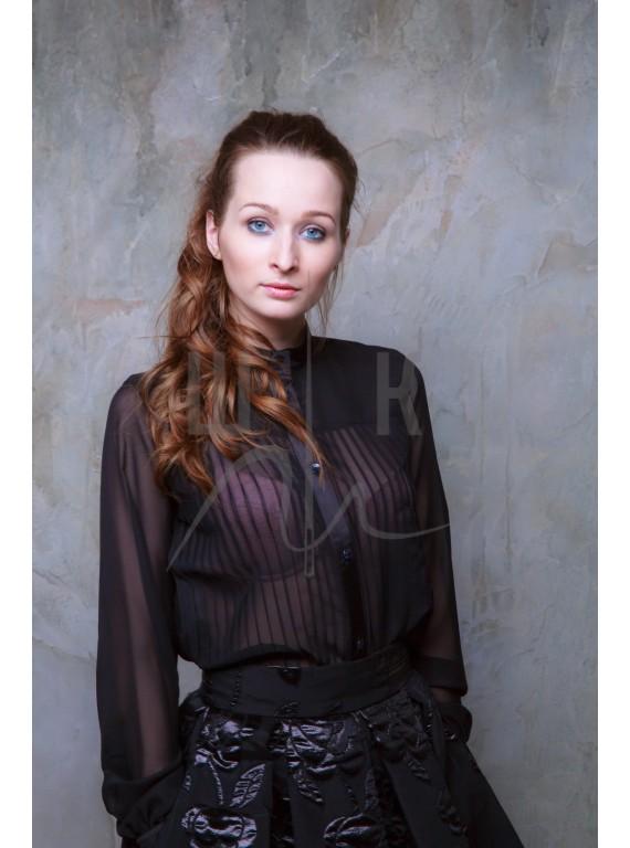 Блузка женская цвет черный БЧ-3