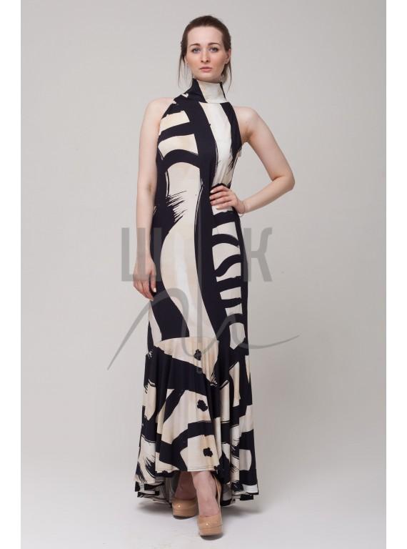Платье в пол бренда OLGA KOLB при сколиозе