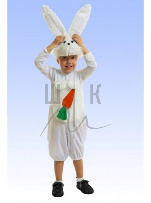Детский Карнавальный костюм Зайчик с морковкой р.28