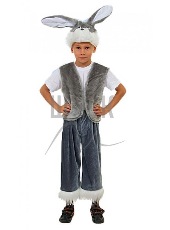 Детский Карнавальный костюм Зайчик серый  р.30, 32