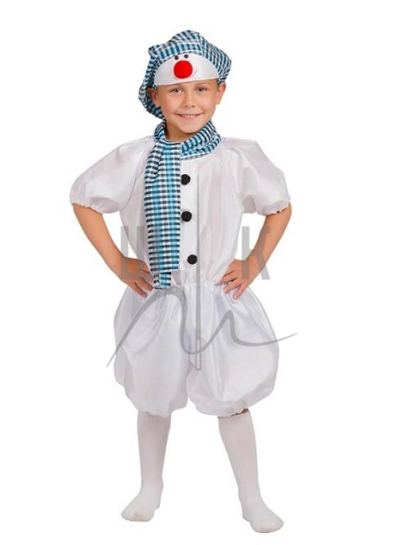 Детский Карнавальный костюм Снеговик-3 р.28, 32, 36