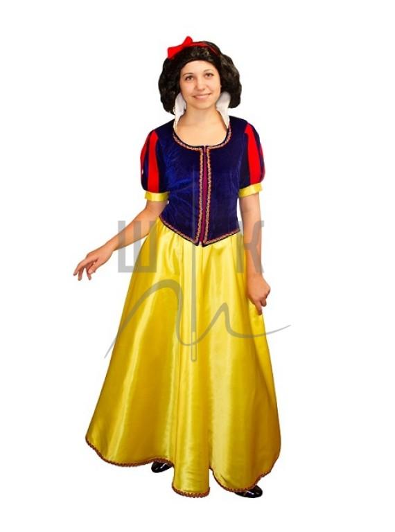 Взрослый карнавальный костюм Белоснежка р.46