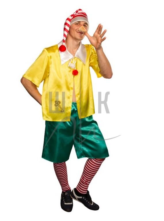 Взрослый карнавальный костюм Буратино взрослый р.50