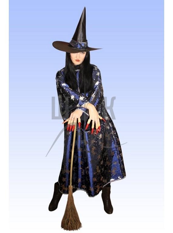 Взрослый карнавальный костюм Ведьма р. 46