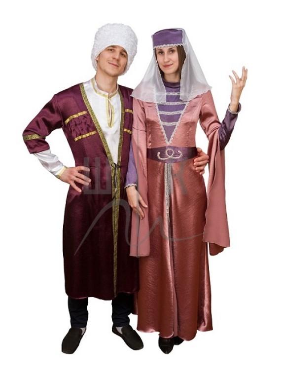 Взрослый карнавальный костюм грузинский женский 44р.  Костюм грузинский женский 48р.