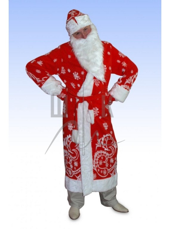 Взрослый карнавальный костюм Дед Мороз-2   р.54