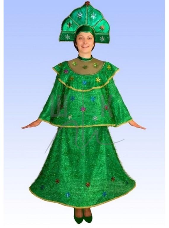 Взрослый карнавальный костюм Елка р. 48-50