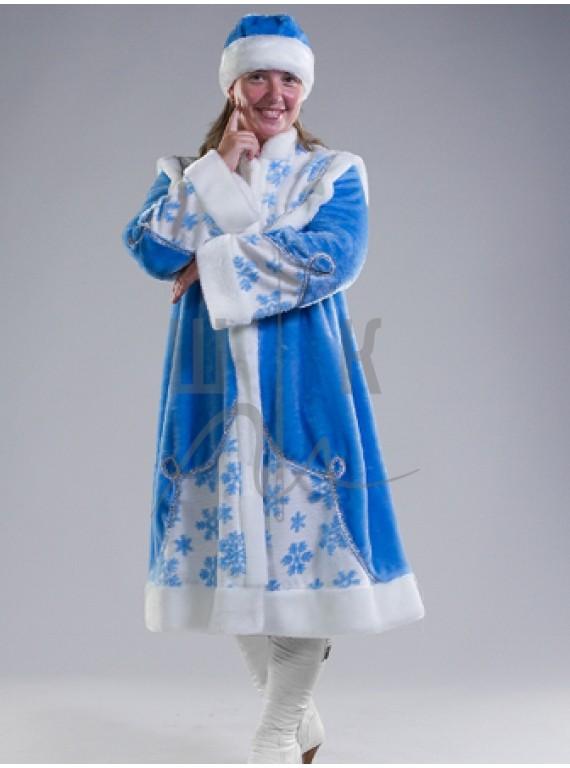 Взрослый карнавальный костюм Снегурочка-2  р.50