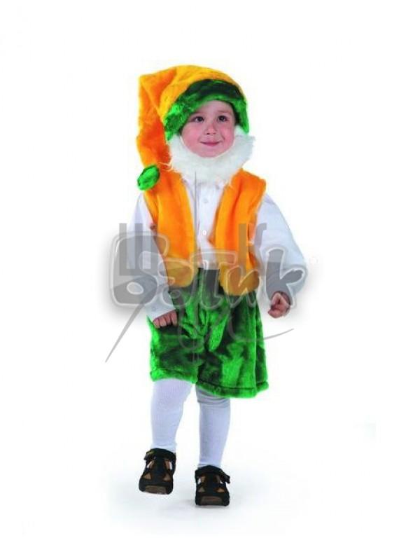 Детский  Карнавальный костюм, маскарадный костюм Гном с бородой28р