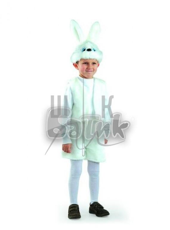 Детский  Карнавальный костюм, маскарадный костюм Заяц белый 28р