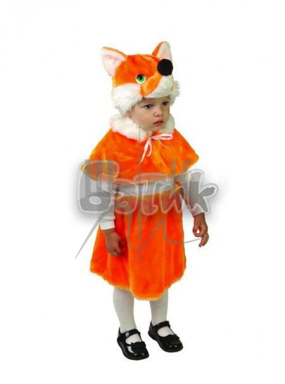 Детский  Карнавальный костюм, маскарадный костюм Лиса 28р