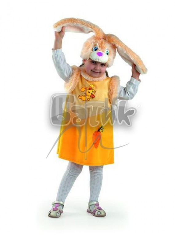 Детский  Карнавальный костюм, маскарадный костюм Зайка Лакомка 28р