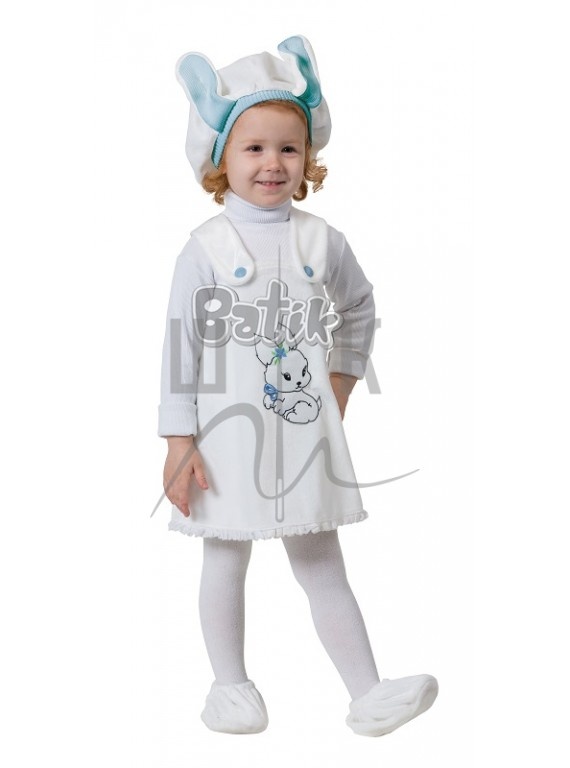 Детский Карнавальный костюм, маскарадный костюм Зайка голубая 26рр