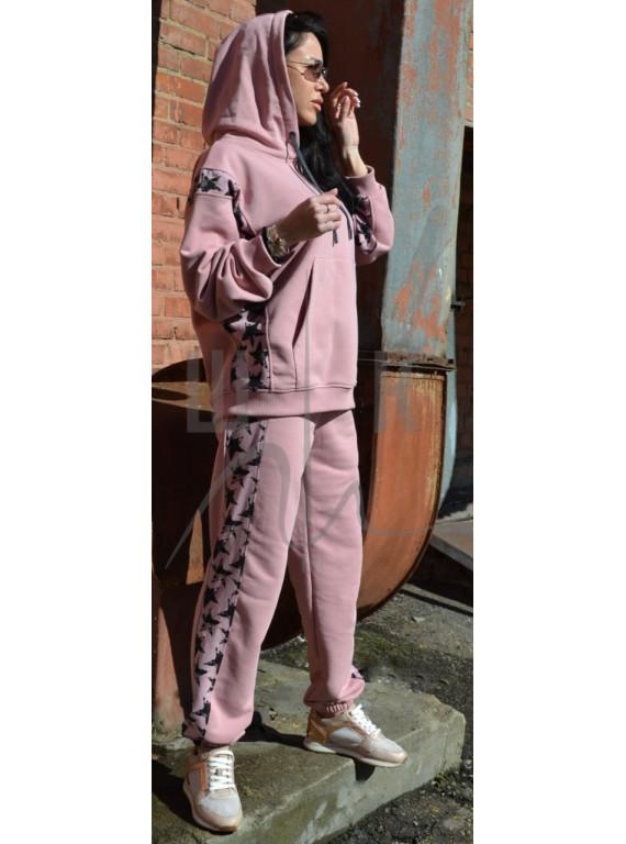 женский трикотажный костюм цвета пыльная роза