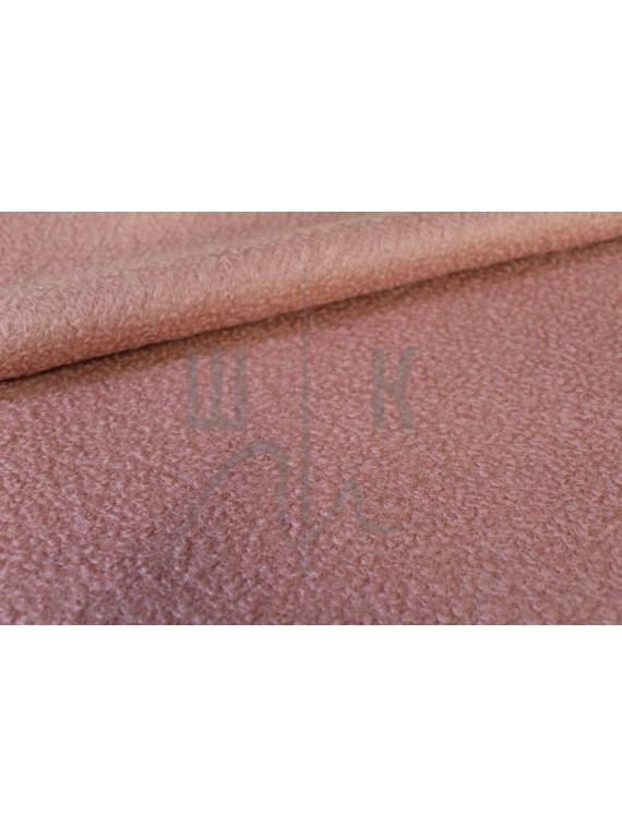 Пальтовая ткань букле, персик