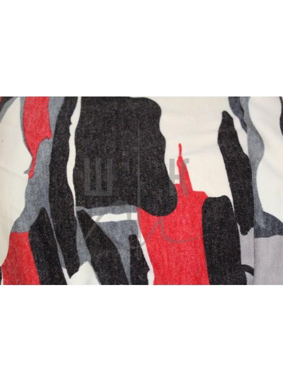 Трикотаж для платья, идеально подходит для пошива туники,платья ,свитера. Цвет  красный, белый,чёрный. Вес 250 гр/м.