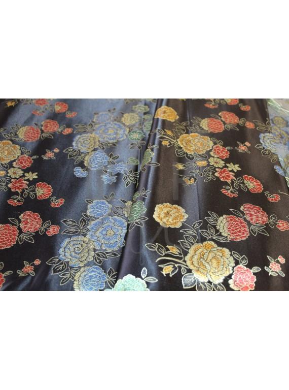 Китайский шёлк  с цветами(платье,халат,блуза)