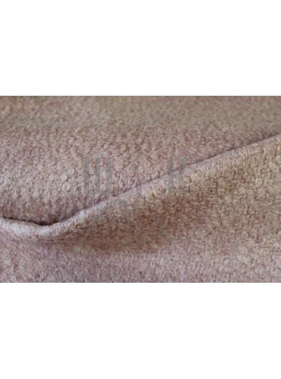 Пальтовая ткань букле, пастельный корал