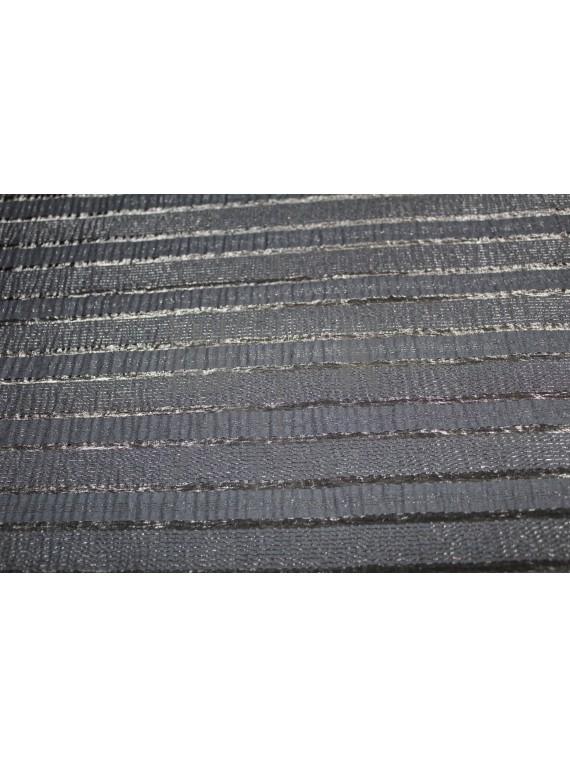 Ткань блузочная чёрная с прозрачными полосками