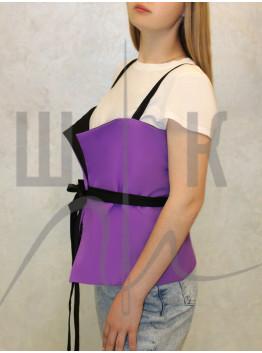 корсетный пояс-жилет  двухсторонний,  фиолетовый бренда OLGA KOLB